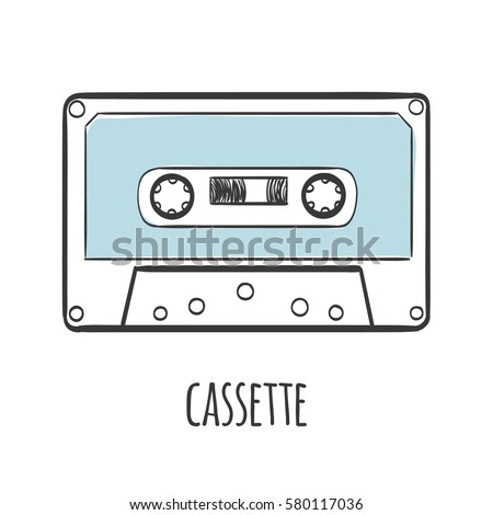 Audio cassette tape vector illustration