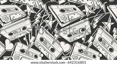 audio cassettes drawn seamless