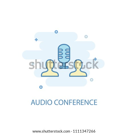 Audio Conference concept trendy icon. Simple line, colored illustration. Audio Conference concept symbol flat design from eLearning  set. Can be used for UI/UX
