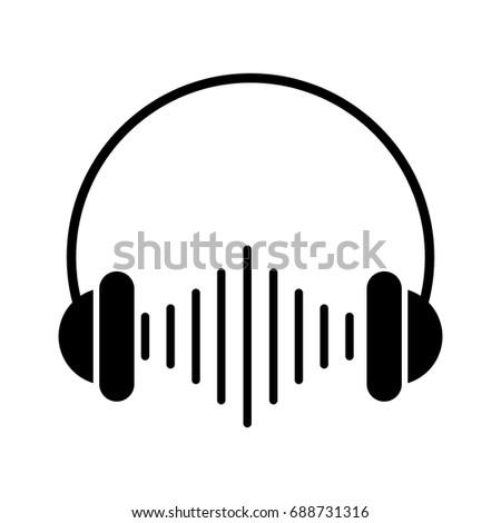 audio earphones isolated icon