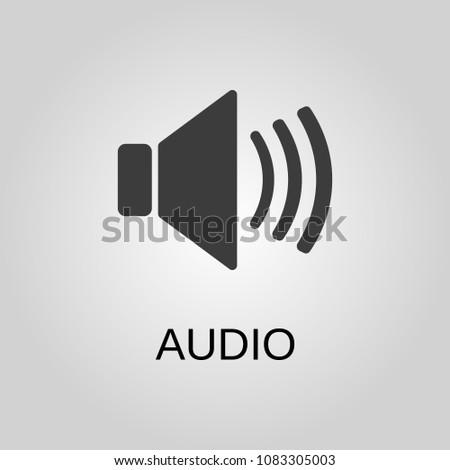Audio icon. Audio symbol. Flat design. Stock - Vector illustration
