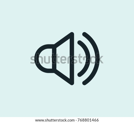Audio icon line isolated on clean background. Sound concept drawing audio icon line in modern style. Vector illustration of audio icon for your web site mobile logo app UI design.
