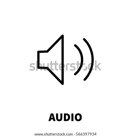 Audio icon or logo in modern line style. High quality black outline pictogram for web site design and mobile apps. Vector illustration on a white background.
