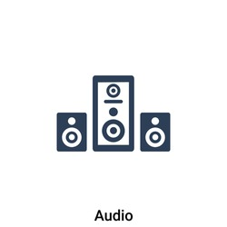 Audio icon vector illustration. Premium quality isolated flat icon.