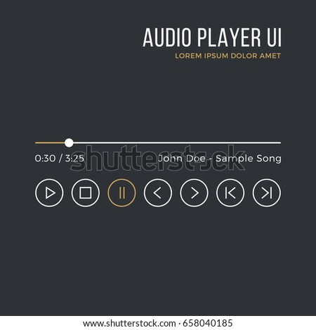 audio player interface