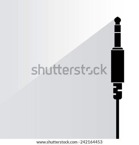 audio plug on white background