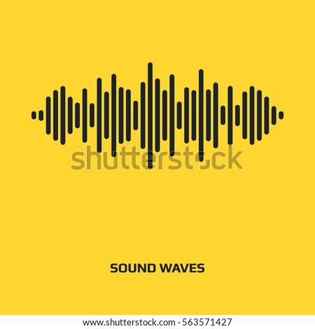 audio signal vector icon sound