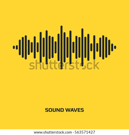 Audio signal vector icon. Sound icon. Music symbol. Equalizer, frequency graphic icon. Minimalistic Illustration. Sound waves logo design. Music pulse signal
