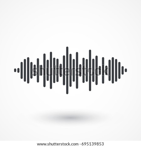 audio signal vector icon sound