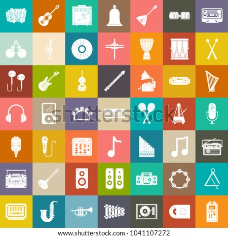 audio sound Music icons, Music instruments, sound equipment
