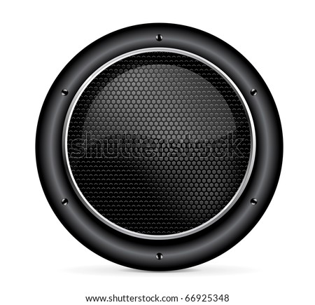 audio speaker icon illustration on white background