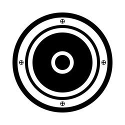 Audio speaker icon on white background. Vector illustration.