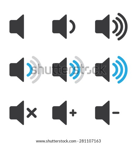 Audio Speaker Volume Icons