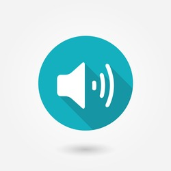 Audio symbol icon. Volume icon, vector illustration. Flat design style