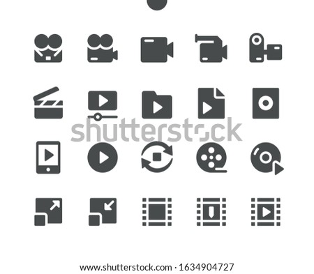 Audio_Video v4 UI Pixel Perfect Well-crafted Vector Solid Icons 48x48 Ready for 24x24 Grid for Web Graphics and Apps. Simple Minimal Pictogram