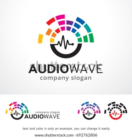 Audio Wave Logo Template Design Vector, Emblem, Design Concept, Creative Symbol, Icon