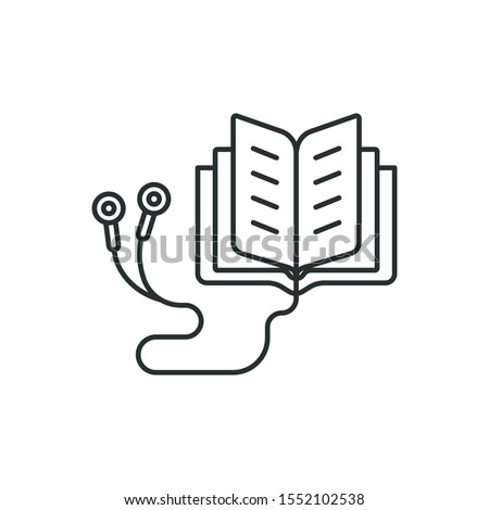 audiobook - minimal line web icon. simple vector illustration. concept for infographic, website or app. Stockfoto ©