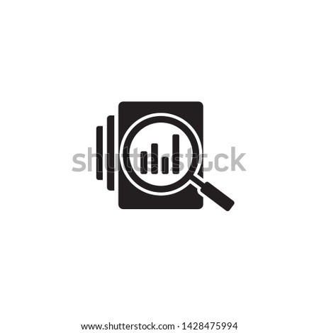 Audit document icon in flat style. Result report vector illustration on white isolated background. Verification control business concept Stock photo ©