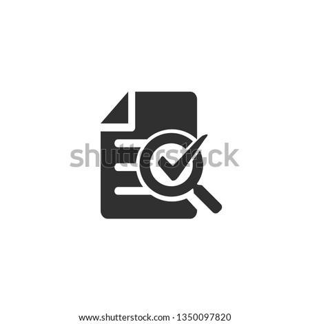 Audit icon in simple design. Vector illustration