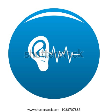 Audition ear icon. Simple illustration of audition ear vector icon for any design blue