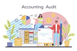 Auditor concept. Business operation specialist. Professional financial
