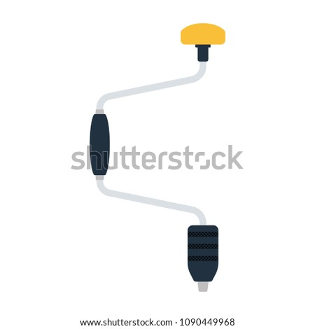 Auger icon. Flat color design. Vector illustration.