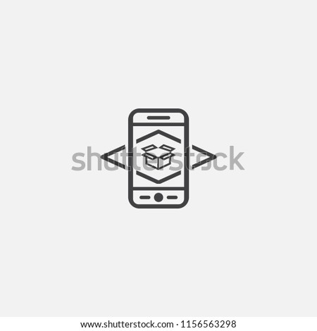 Augmented reality base icon. Simple sign illustration. Augmented reality symbol design from Augmented reality series. Can be used for web, print and mobile