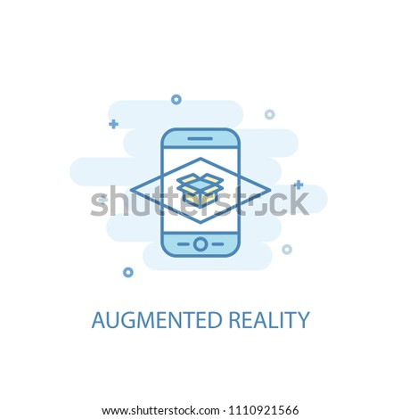 Augmented reality concept trendy icon. Simple line, colored illustration. Augmented reality concept symbol flat design from Augmented reality set. Can be used for UI/UX