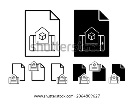 Augmented reality, home, mobile vector icon in file set illustration for ui and ux, website or mobile application