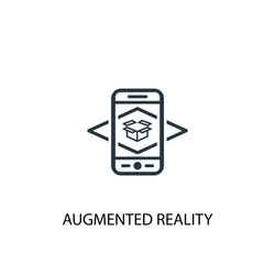 Augmented reality icon. Simple element illustration. Augmented reality concept symbol design from Augmented reality collection. Can be used for web and mobile.