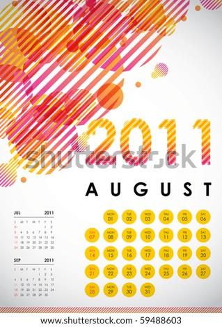 august calendar for 2011. August - Calendar Design 2011