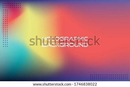 aurora blurred holographic