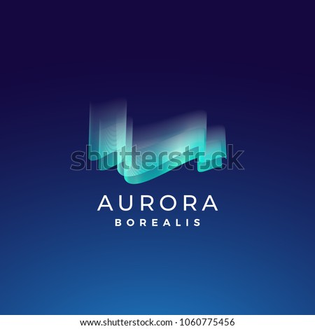 aurora borealis abstract vector