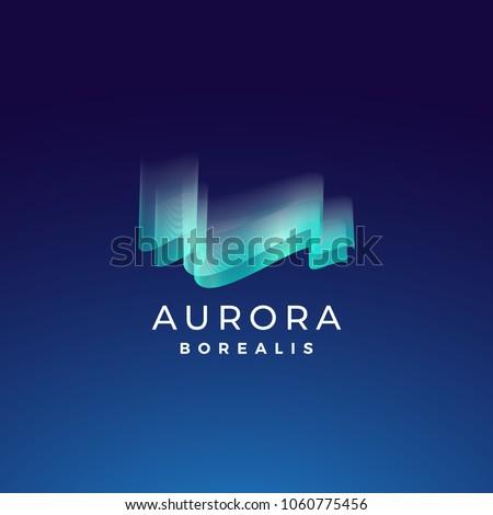 aurora borealis abstract vector