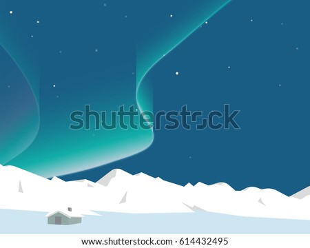 aurora dancing above mountain