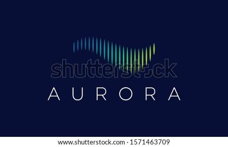 Aurora Logo Design Vector Icon Stock photo ©
