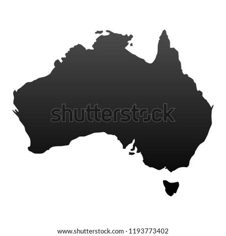 Austalia Map Vector
