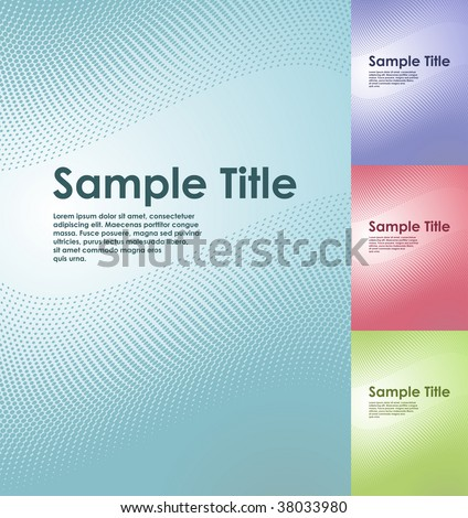 Title Pages Templates Title Page Vector Template