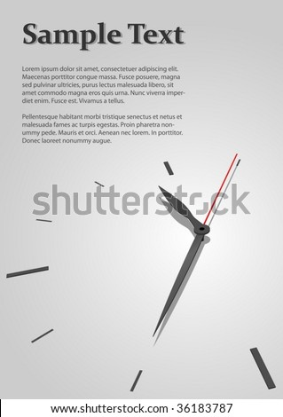 Austere time concept vector background with copyspace for title page.
