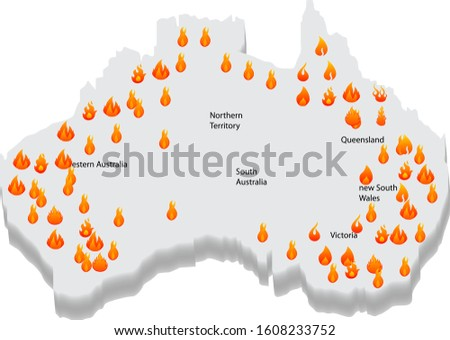 Australia bush fire and map. Southern Australia Seasonal Bushfire, Australia Bushfire Map: Fires Rage Outside Every Major City, Australia Is Burning,Fires across Australian state