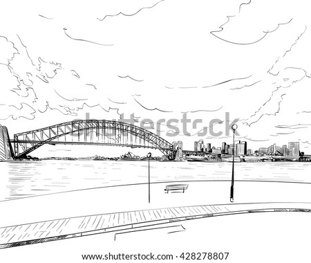 australia city sydney hand