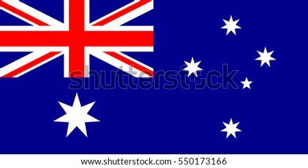 Australia Flag, official colors and proportion correctly. National Australia Flag. Australia Flag vector illustration. Australia Flag vector image. Vector illustration.