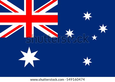 Australia Flag. Official colors and proportion correctly. National Flag of Australia. National Flag of Australia vector illustration. National Flag of Australia vector background.