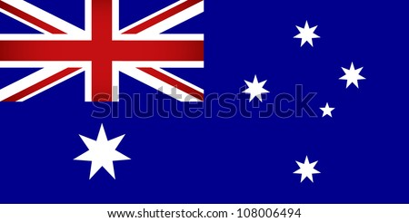 Australia Flag. Vector illustration. - stock vector