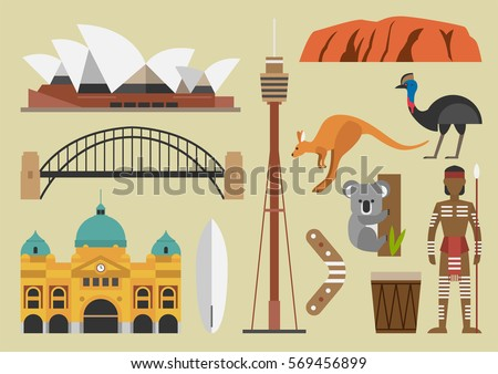 australia flat illustration
