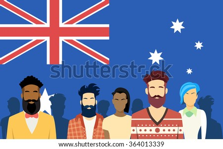 australia group people man