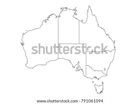 Australia Map Vector With States.Australia Map Vector Download Free Vector Art Stock Graphics Images