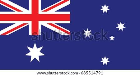 Australia National Flag. Vector.