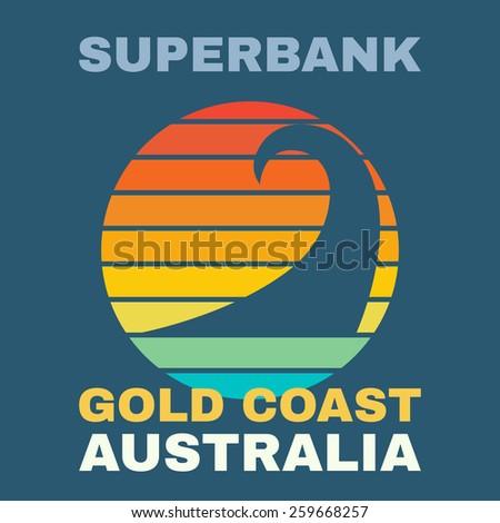 australia surf illustration