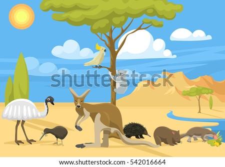 australia wild life vector
